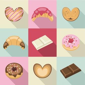 Weinlese-Süßigkeiten und Gebäck
