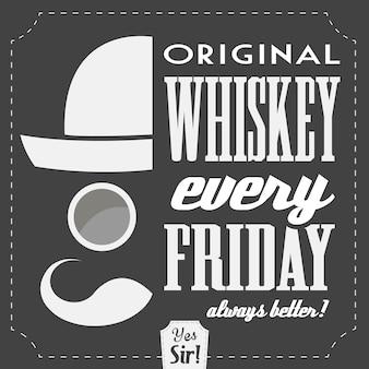 Weinlese-Whisky-Zeichen