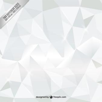 Weiß Polygone Hintergrund