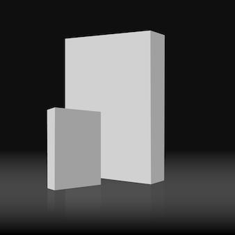 Weiße Rechtecke auf schwarzem Hintergrund isoliert