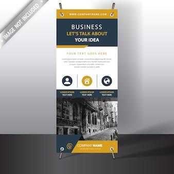 Weiße und gelbe Business Broschüre