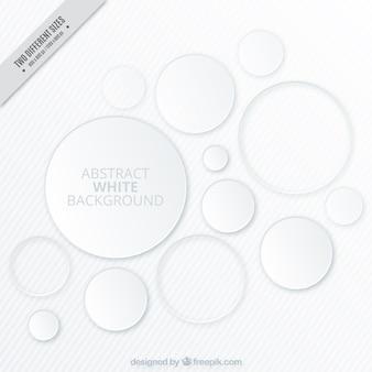Weißer Hintergrund mit Kreisen