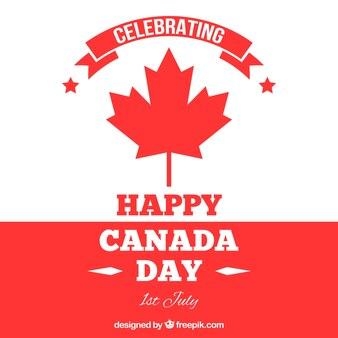 Weißer und roter Hintergrund für Kanada Tag