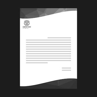 Weißes Dokument mit schwarzen Elementen
