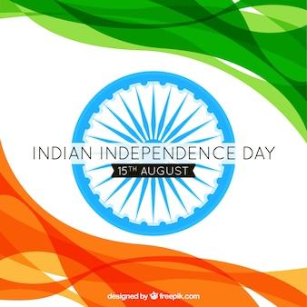 Wellen Hintergrund der abstrakten Indien Unabhängigkeit Tag