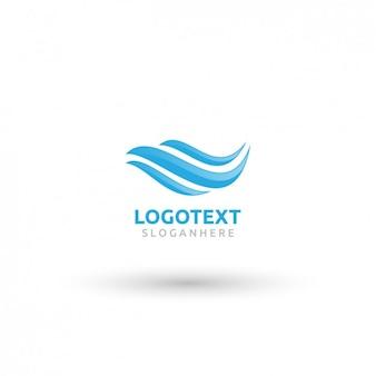 Wellenförmige blaue Logo