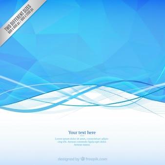 Wellenförmiger Hintergrund in Blautönen