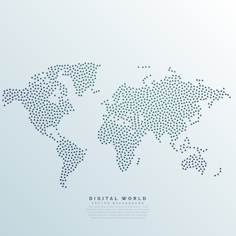 Weltkarte mit Punkten gemacht