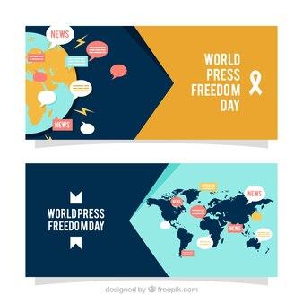 Weltpresse Freiheit Tag Banner