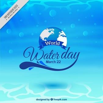 Weltwassertag Aquatic Hintergrund