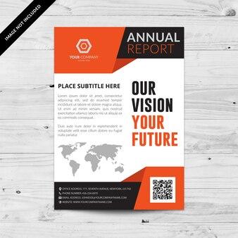 White Business Broschüre mit orange und schwarzen Details