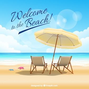 Willkommen an den Strand