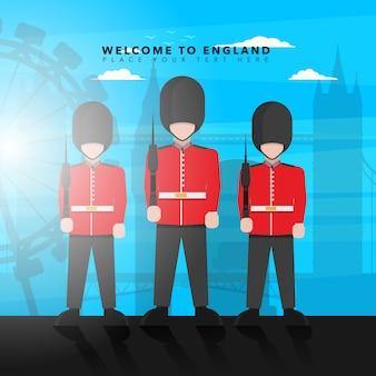 Willkommen in England Hintergrund