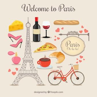 Willkommen in Paris Elemente