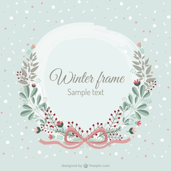 Winter floral frame