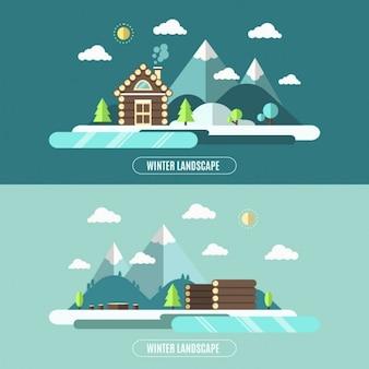 Winter-Natur-Landschaft