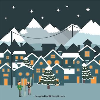 Winter Town Hintergrund