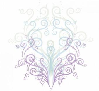 Wirbel floralen Ornament Vektor-Grafik