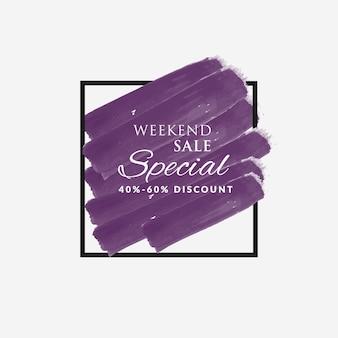 Wochenend-Verkauf Rabatt Aquarell Pinsel Hintergrund