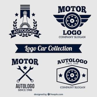 Wohnung Satz von vier Auto-Logo