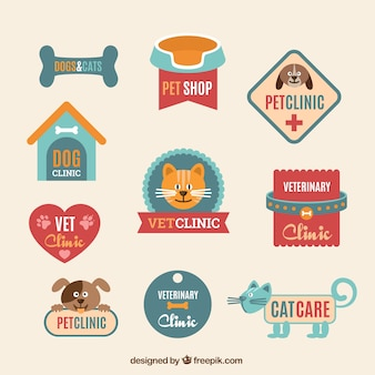 Wohnung Tierklinik Logo-Vorlagen