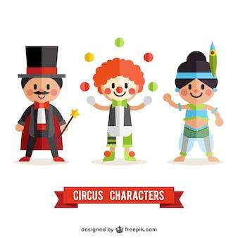 Wohnung Zirkuscharaktere