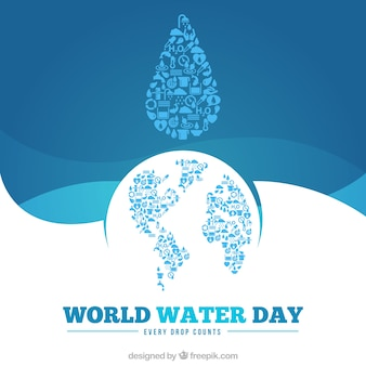 Wolrld Water Day Hintergrund
