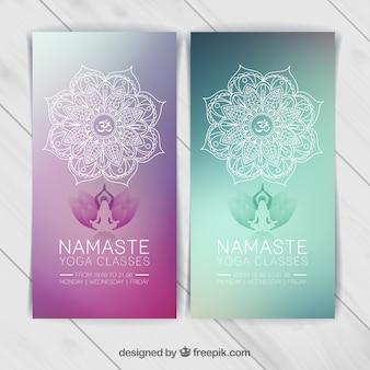 Yoga-Banner-Vorlage