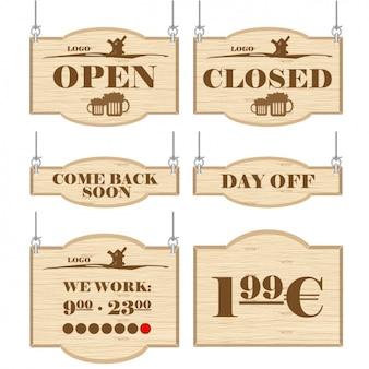 Zeichen für die Unternehmen des Handels