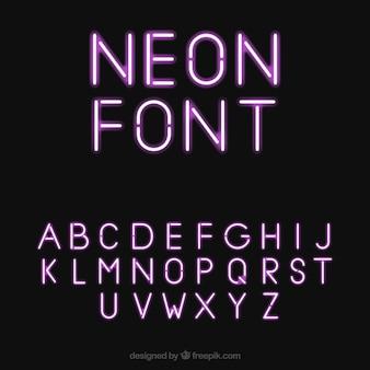 Ziemlich neon font