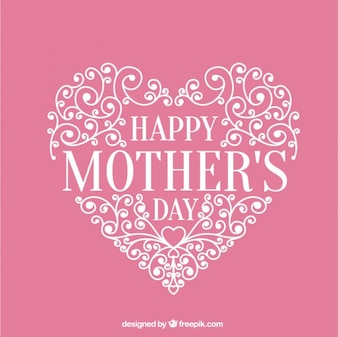 Zier Herz rosa Karte der Muttertag