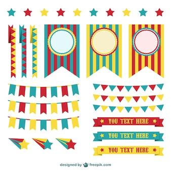 Zirkus Dekorationen grafische Elemente