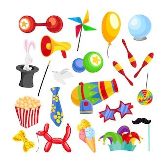 Zirkus Elemente Sammlung