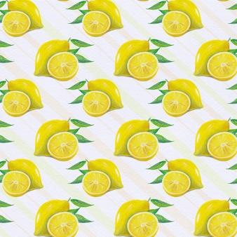 Zitronenmuster Hintergrund