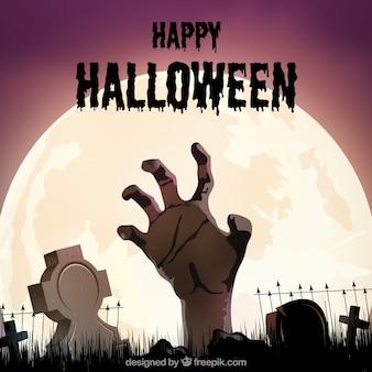 Zombie Hand Hintergrund kommen aus dem Boden