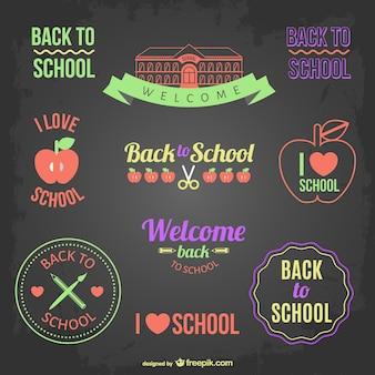 Zur Schule Abzeichen und Banner zurück