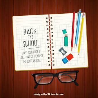 Zurück in der Schule Notebook
