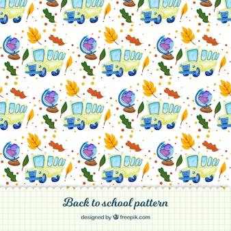 Zurück zur Schule Muster Hintergrund