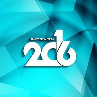 Zusammenfassung blauem Hintergrund des neuen Jahres