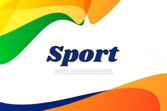 Zusammenfassung farbigen Hintergrund Brasilien