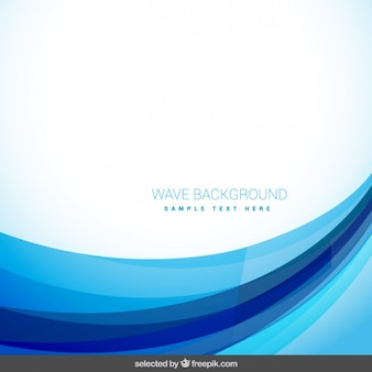 Zusammenfassung Hintergrund mit blauen Wellen