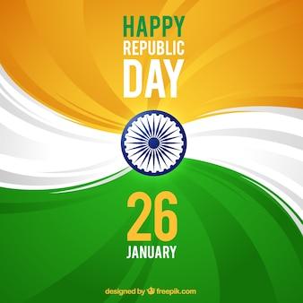 Zusammenfassung Hintergrund mit den Farben der indischen Flagge