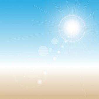 Zusammenfassung Hintergrund mit einem Sommer-Design