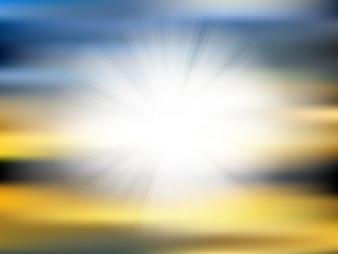 Zusammenfassung Hintergrund mit einem Sunburst-Effekt