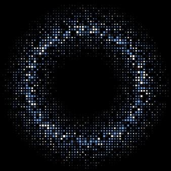 Zusammenfassung Hintergrund mit Halbton-Quadrate