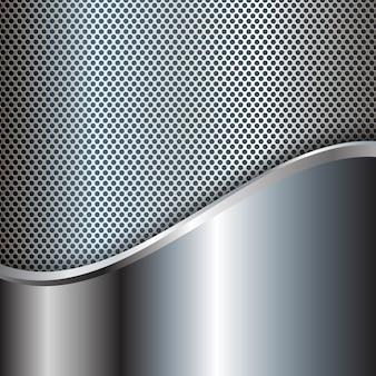 Zusammenfassung Hintergrund mit metallischen Texturen