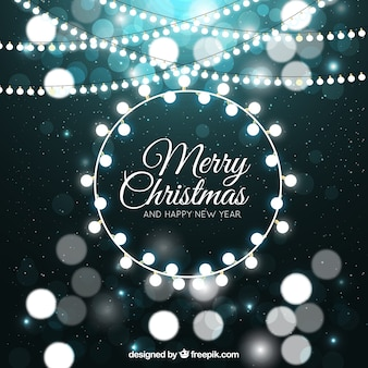 Zusammenfassung Hintergrund mit Weihnachtsbeleuchtung