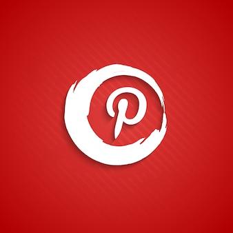 Zusammenfassung Pinterest Icon Hintergrund