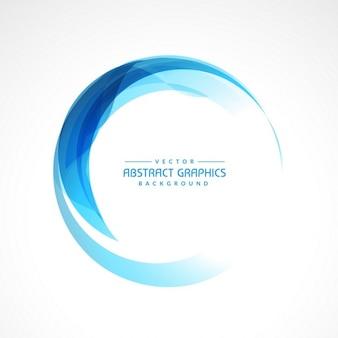 Zusammenfassung runden blauen Rahmen