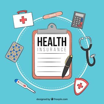 Zusammensetzung mit Krankenversicherungselemente